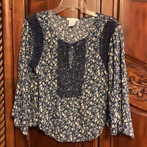 Easley flower print cotton blouse- size S